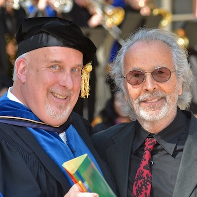 Dean Chris Waterman with Herb Alpert, who received the UCLA Arts Award on June 16, 2012. Photo by Todd Cheney/UCLA