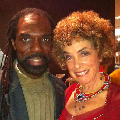 "Kevan Hall and Carol Beckwith at Minotti Los Angeles opening of ""African Passion: Painted Bodies & Beyond"" November 20, 2012"