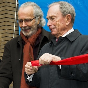 Yvette Campbell, President & CEO of The Harlem School of the Arts; Lani Hall; Herb Alpert and New York City Mayor Michael Bloomberg cut the ribbon to officially name the Harlem School of the Arts building as The Herb Alpert Center on March 11, 2013 in New York.
